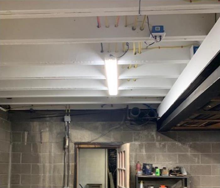 basement roof fully restored from fire damage