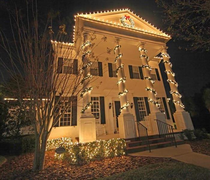 Fire Damage Christmas lights safety tips